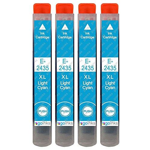 4 Go Inks Cartucce di inchiostro Ciano Chiaro per sostituire Epson T2435 (24XL Series) compatibile/non originale per Stampanti Epson Expression Photo