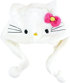 Hello Kitty Furry Hat With Pink Bow