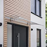 Schulte Pultvordach Style Plus, 160 x 90 cm, 3 mm Polycarbonat Platte Klar, Wandhalterung Edelstahl...