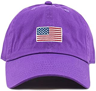 0d493d9b42e THE HAT DEPOT Washed 100% Cotton Dad HAT Flag Low Profile Adjustable  Baseball Cap