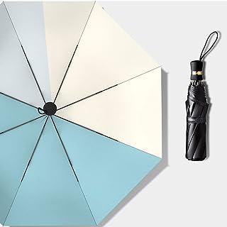 RXY-傘 日傘日焼け止めUVプロテクション雨兼用傘女性用ミニポケット折りたたみ傘 (Color : B)