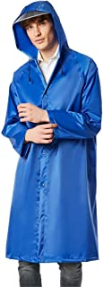 DILLIS レインコート大人の女性の厚い長いトレンチコート防水屋外のハイキング登山旅行防水雨雨雨ポンチョ (Color : Blue, Size : M)
