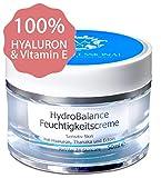 100% natürliche HYALURON Anti-Aging Creme 50ml | HOCHMOLEKULAR & OHNE Alkohol | Hyaluronsäure hochdosiert...