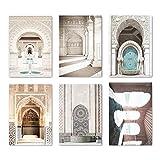 ZDFDC Moschee Leinwand Malerei Marokko Architektur Poster
