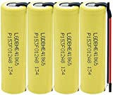 LqyKJas Lithium Ion Rechargeable Battery Cell for 3.7V 2500Mah 1865035A Battery for High Discharge Flashlight Rechargeable Battery 6Pcs-4Pcs