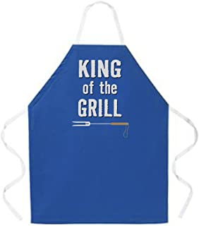 Attitude Aprons Fully Adjustable King of The Grill Apron, Dark Blue