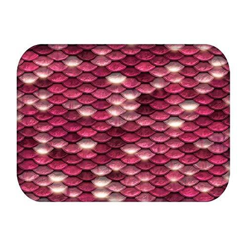 HLXX Alfombrilla para Cocina, baño, Piso, Estilo a Escala Moderna, Alfombra Lavable Reutilizable, a Prueba de Polvo, Antideslizante, alfombras para el hogar, en el Pasillo A6, 40x60cm