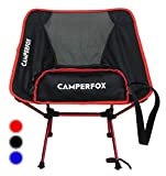 CamperFox® Campingstuhl faltbar mit Tragegurt - 140kg Traglast - kompakter Anglerstuhl für Camping & Outdoor - robust, leicht, kleines Packmaß