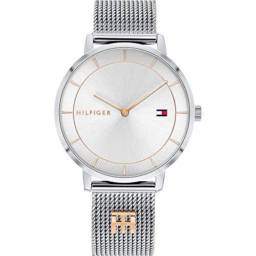 Tommy Hilfiger Reloj Analógico para Mujer de Cuarzo con Correa en Acero Inoxidable 01782288