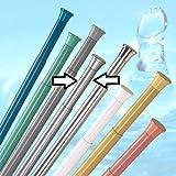 barre pour rideau de douche 190 - 300 cm argentine mat ** EXTRA long ** barre de...