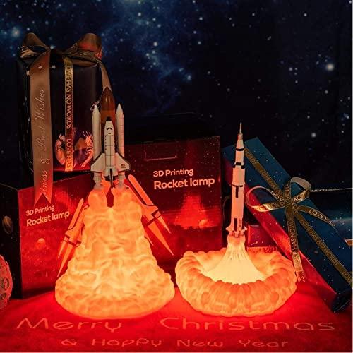 CCAN Luce Notturna 3D Dropshipping Stampa 3D Space Shuttle Lampada Luce Notturna Ricaricabile per Gli Amanti dello Spazio Lampada lunare Come Decorazione della Stanza Interesting Life