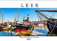 LEER Museumshafen und Altstadt (Wandkalender 2022 DIN A2 quer): Leer ist das Tor zu Ostfriesland (Monatskalender, 14 Seiten )