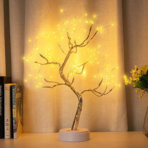 Lámpara de árbol de mesa con 108 luces LED para árbol de bonsái, luces artificiales para árbol de bricolaje, lámpara de árbol...