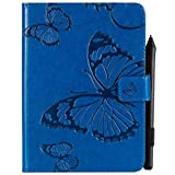Yhuisen Butterfly Flower Floral Pattern PU Leather Wallet Stand Tablet Case for Amazon Kindle Paperwhite 4 (10th Generation-2018) 6.0 inch (Color : Blue)