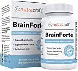 BrainForte Memory & Focus Supplement | 41 Active Ingredients with DMAE, Huperzine A, Bacopa, DHA & More | Supports Mental Focus, Concentration & Brain Health | Made in The USA | 60 Vegetable Capsules