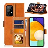 GDTOGRT for Galaxy A72 Wallet Case, Premium PU Leather with Kickstand Card Slot Magnetic Closure Shockproof Protective Flip Folio Cases Cover for Samsung Galaxy A72 5G -Light Brown