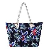 Grande borsa da spiaggia idrorepellente con cerniera Borsa a tracolla Shopper Fiore delle ...