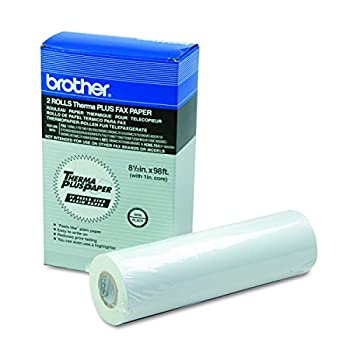 Brother 8.5in X 98ft 2-rolls Thermal Plus Fax Paper for Mfc-390mc - Retail Packaging