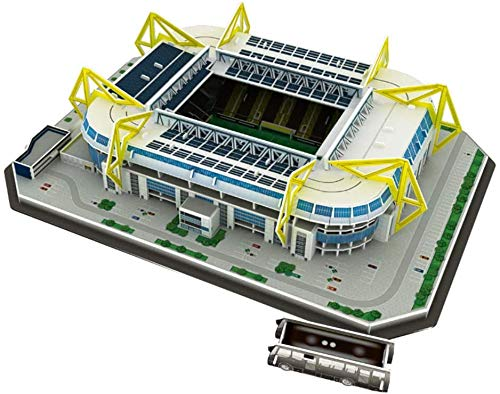WPLHH Paper 3D Puzzles,Signal Iduna Park Building Sets 3D Construction Toys Model Kits,Educational Toy for Kids and Adults,Gift for Boys and Girls
