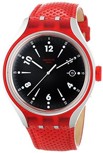 Swatch Orologio Analogico Unisex con Cinturino in Pelle YES4001