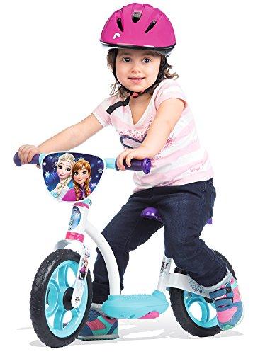 Smoby - 770106 - la Reine des Neiges - Draisienne Confort Enfant avec Roues Silencieuses - Siège Réglable - Béquille Intégrée