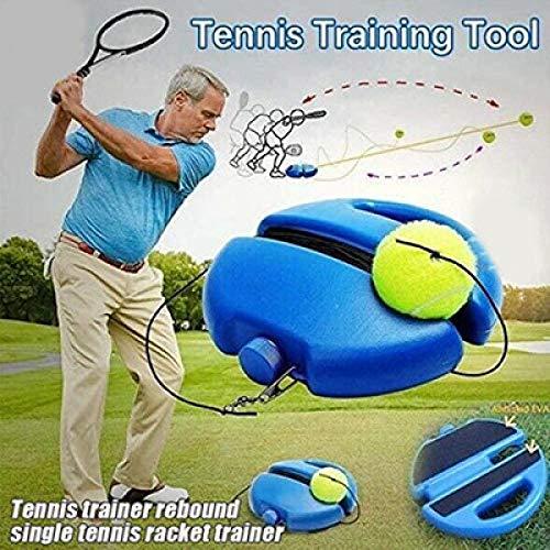 MENGDI Practicando Herramientas de Entrenamiento de Tenis Entrenadores de autoaprendizaje de Tenis con Cuerda elástica Rebote Pelota zócalo Dispositivo de Entrenamiento-Entrenador * 3 Bolas