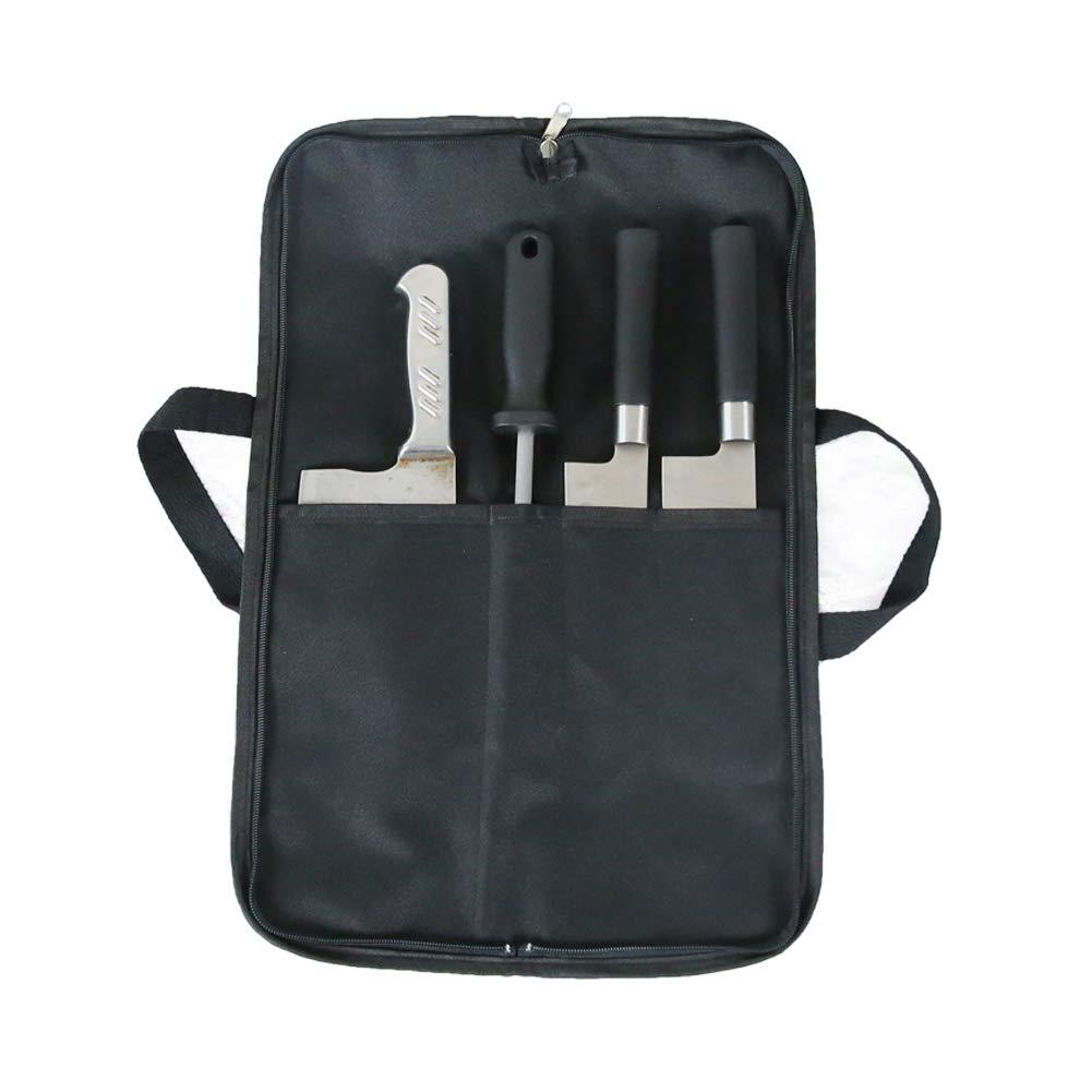 Utility HGJ17-L - Funda para cuchillos de cocina (4 bolsillos), diseño de cocinero: Amazon.es: Hogar