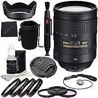 Nikon af-s Nikkor 28–300mm f / 3.5–5.6G ED VRレンズ+ 77mm 3PieceフィルタセットUV、CPL、FL) + 77mm + 1+ 2+ 4+ 10クローズアップマクロフィルターセットwithポーチ+レンズキャップ+レンズフード+レンズクリーニングペンバンドル