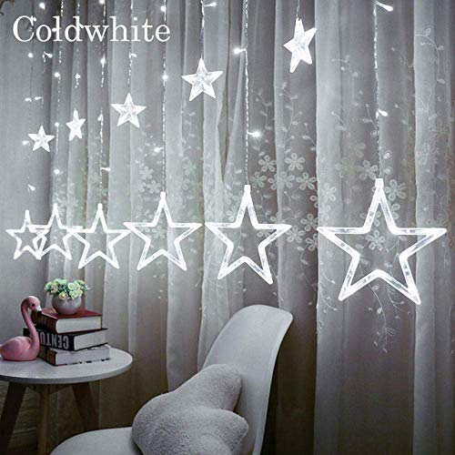 XHCP Solar Lights Outdoor Indoor/Outdoor Christmas Lights Eu220V / Us110V Fairy Lights Moon Star Led Lamp String Home Party Decoration Holiday Lighting
