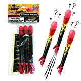 Stomp Rocket Extreme Rocket Refill Pack, 3 Rockets for Rocket Launcher...