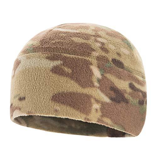 M-Tac Watch Cap Fleece 260 Mens Winter Hat Tactical Skull Beanie (S, Camo)