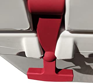 BEAST COOLER ACCESSORIES - Crimson Replacement Lid Latches (2-Pack) Compatible with Yeti & RTIC Hard Coolers - Larger, More Durable, Ergonomically Improved Design in Crimson