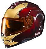 HJC Helmets Marvel IS-17 Unisex-Adult Full Face IRONMAN Street Motorcycle Helmet (Red/Yellow, X-Large)