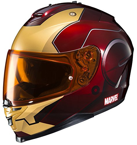 Ironman motorcycle helmet