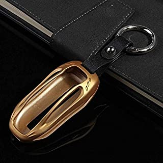 Key Case for Car - 1 Pcs Car Key Case Cover with Key Chain for for Tesla Model X 2012 2013 2014 2015 2016 2017 2018 Protec...