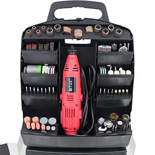 BITUXX® 320 teiliges Mini Schleifer Set Multifunktionswerkzeug Mehrzweckschleifmaschine Multischleifer Multitool 135W und Drehzahlregelung