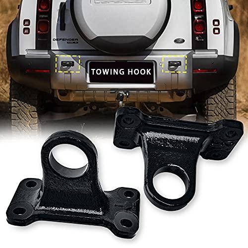 BrightFootBook Gancho De Remolque Trasero para Land Rover Defender 2021, Gancho De Remolque para Automóvil,Black