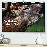 Der Rothirsch, Koenig der Waelder (Premium, hochwertiger DIN A2 Wandkalender 2022, Kunstdruck in Hochglanz): Der Rothirsch traegt seinen Titel, als Koenig der Waelder zurecht. (Monatskalender, 14 Seiten )