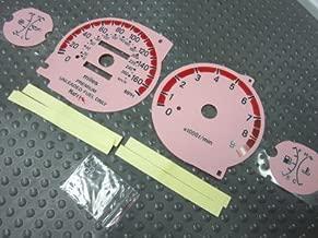 95-99 Mitsubishi Eclipse Turbo White Glow Through Pink Face Gauges AT MT Stick Manual