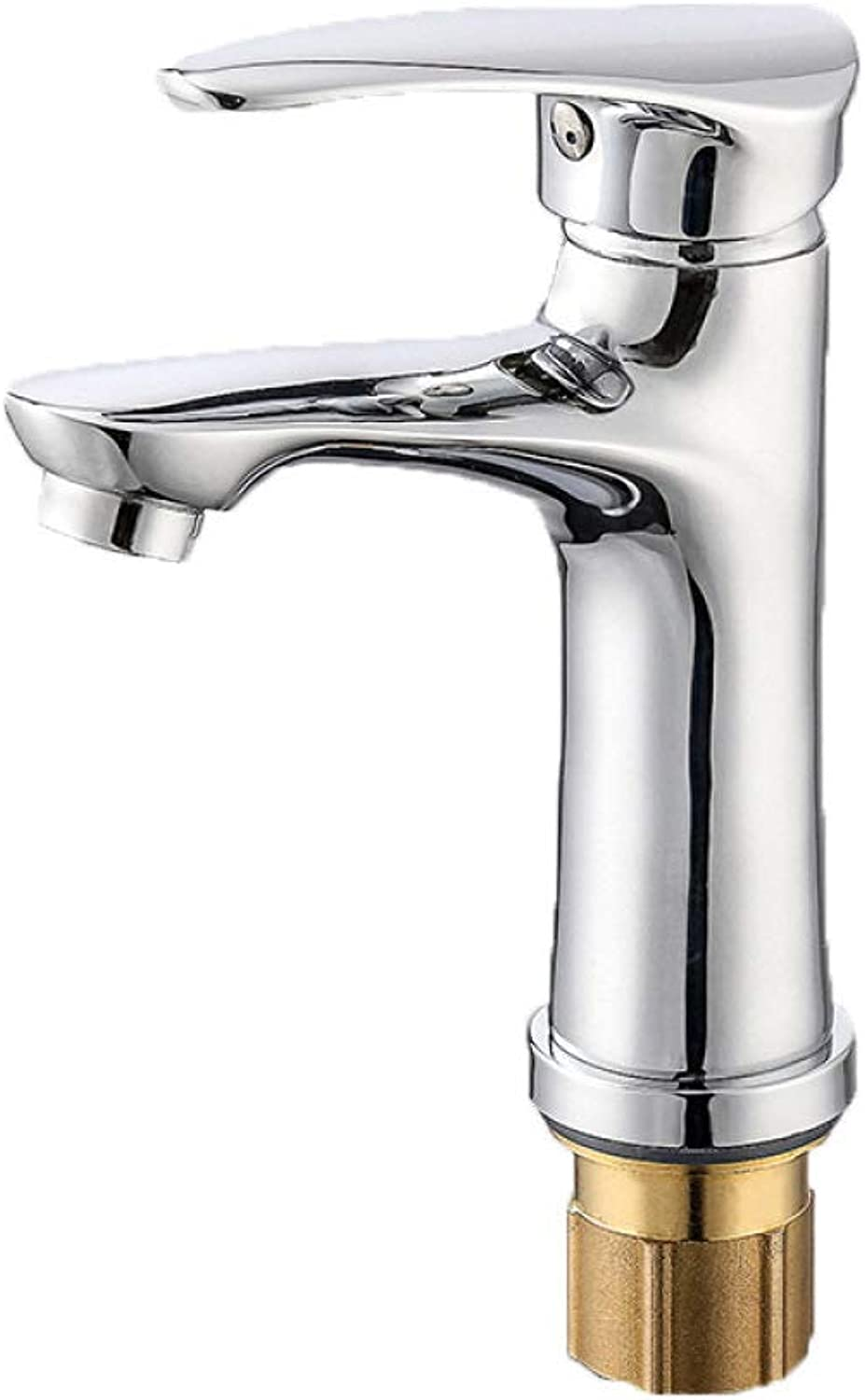 PZXY Faucet Copper Valve Body Bathroom Toilet hot and Cold Mixed Faucet washbasin Basin Single Hole Faucet 14  12  17  3  4cm