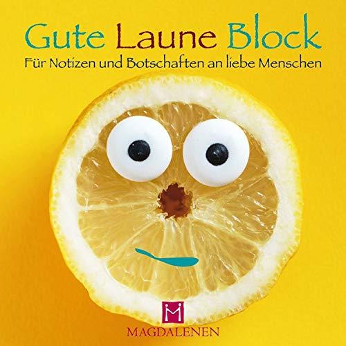 Gute Laune Block Lustige Zitrone