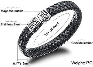 Leather Bracelet Black for Unisex