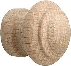 Metafranc Meubelknop Ø 20 mm - beuken - onbehandeld - hoogwaardige afwerking - mooi vormgegeven & decoratief - incl. monta...