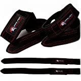 Dark Iron Fitness Weightlifting Leather Suede Lifting Wrist Straps...