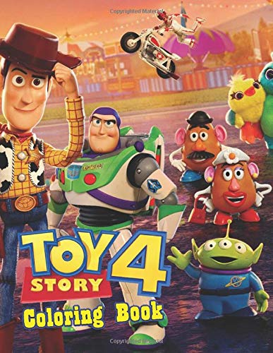 Toy Story 4 Coloring Book: Toy Story 4 Jumbo Coloring Book With High Quality Images For All Ages, Great Coloring Book for Kids and Adults