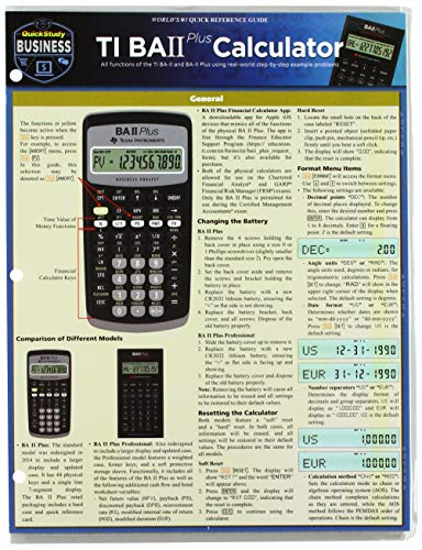 Compare Textbook Prices for TI BA 2 Plus Calculator Quick Study Business Lam Chrt Edition ISBN 9781423233275 by Geren, Matt