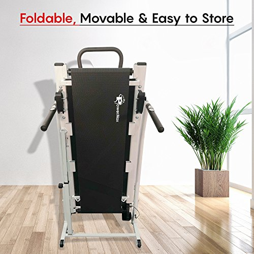 PowerMax Fitness MFT-410 Manual Treadmill with Free Installation Assistance, Home Use & Multifunction