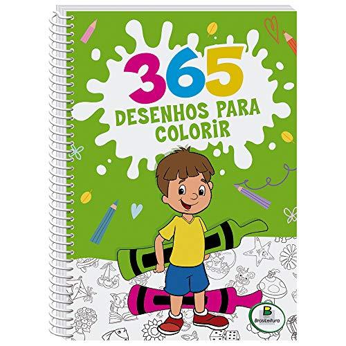 365 Desenhos Para Colorir (Verde/Espiral)