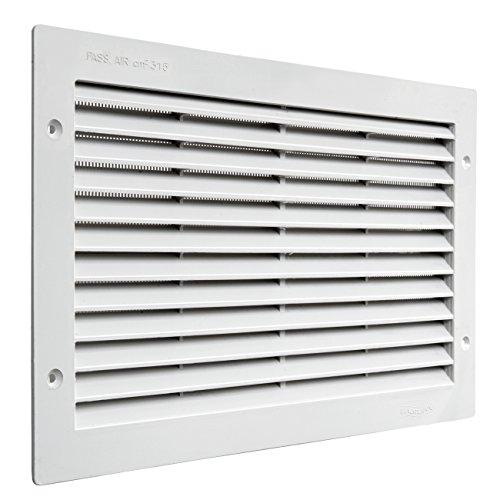 La ventilación par3823b Rejilla de ventilación de plástico rectangular 380x 230mm de integrado, blanco