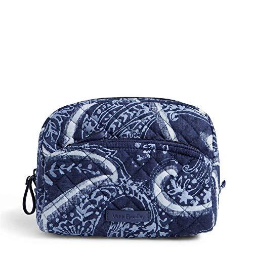 Vera Bradley Women's Signature Cotton Medium Cosmetic Makeup Bag, Indio, One Size